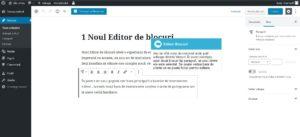 Instrumente de editare a blocurilor Gutenberg în Wordpress